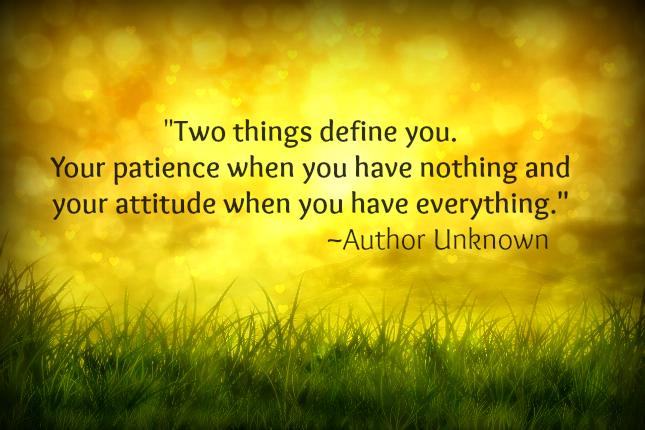 2 things that define you...quote by unknown author