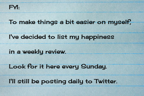 100 Days of Happiness Weekly Review