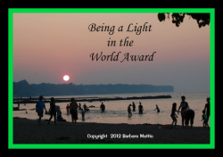 Being a light in the World Blog Award