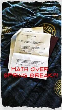 Oh no...math homework?!